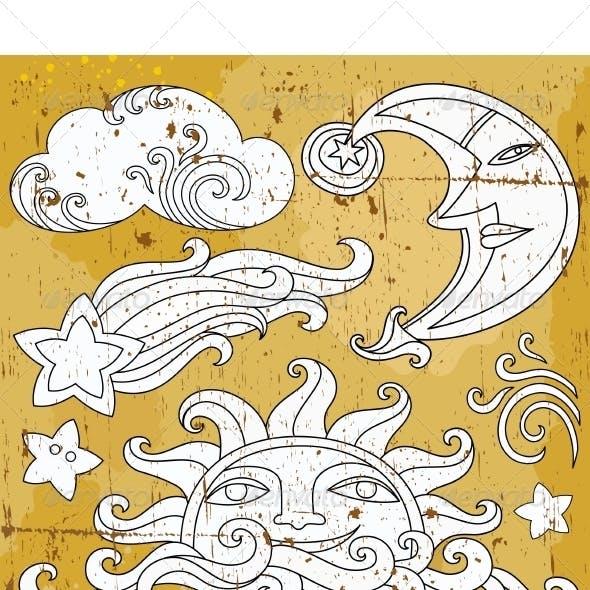 Celestial Design Elements