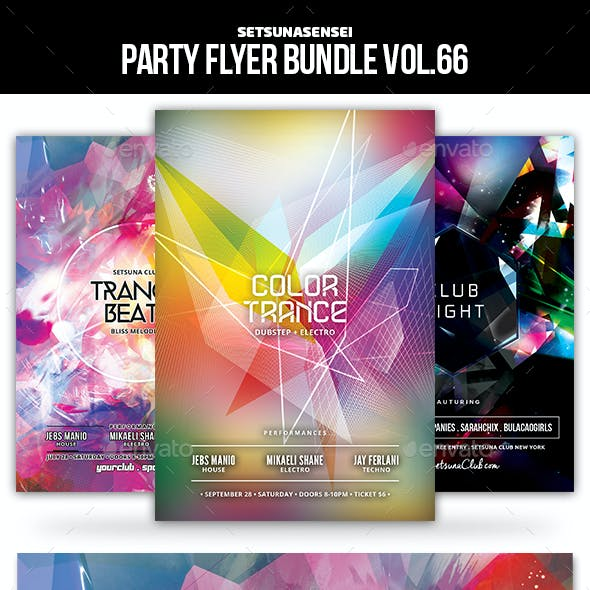 Party Flyer Bundle Vol.66