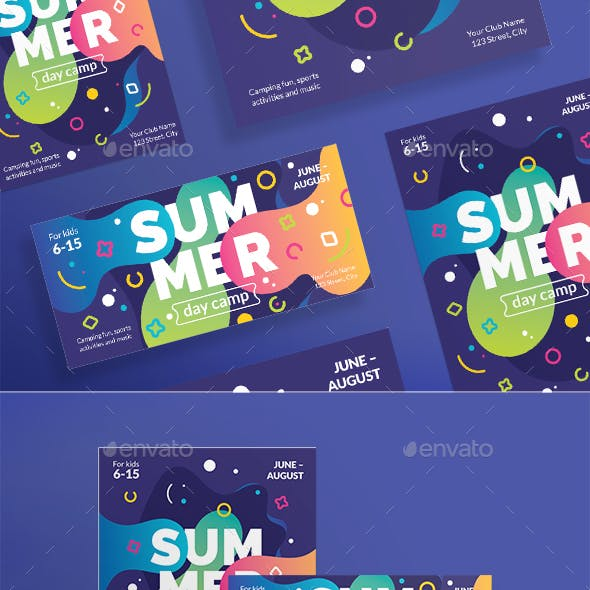 Summer Day Camp Flyers