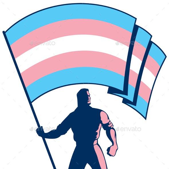 Transgender Pride Flag Bearer