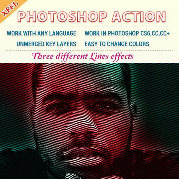 Lines Portrait Photoshop Action