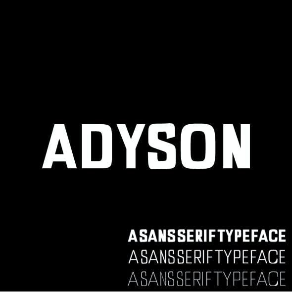 Adyson Sans Serif Typeface