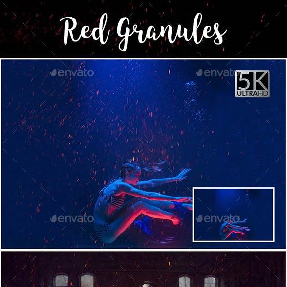 25 Red Granules Overlays