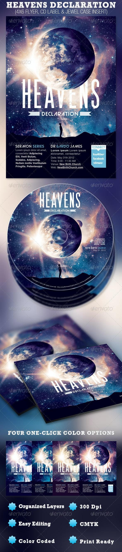 Heavens Declaration Flyer and CD Template - Church Flyers