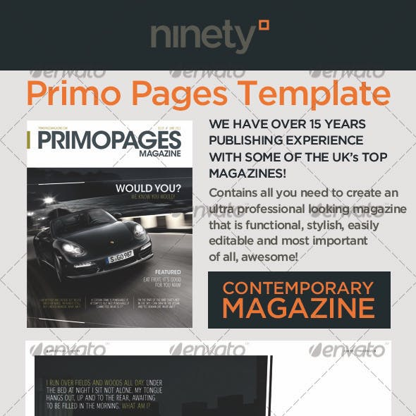 Primo Pages Magazine Template