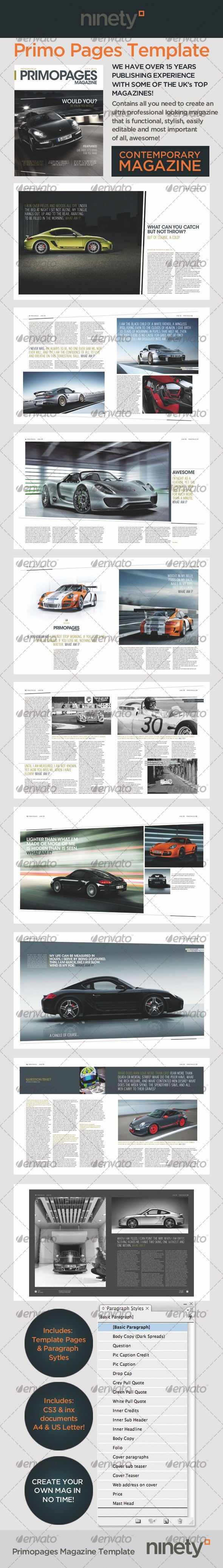 Primo Pages Magazine Template - Magazines Print Templates