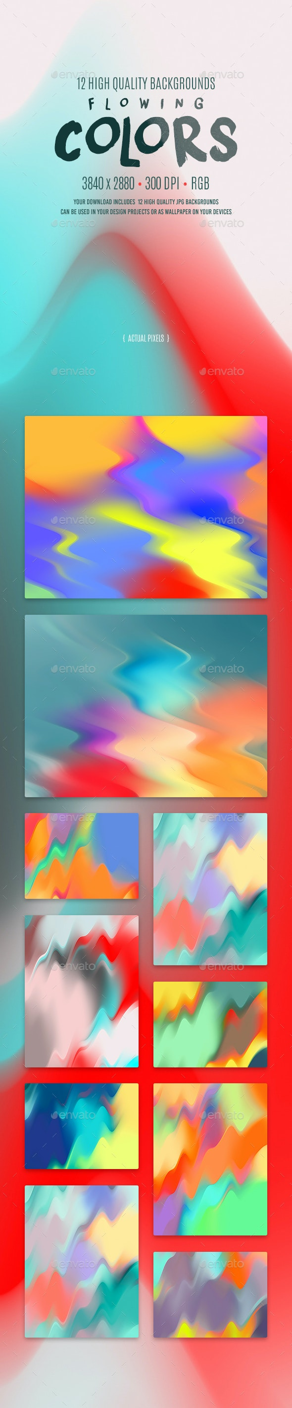 Flowing Colors Backgrounds - Abstract Backgrounds