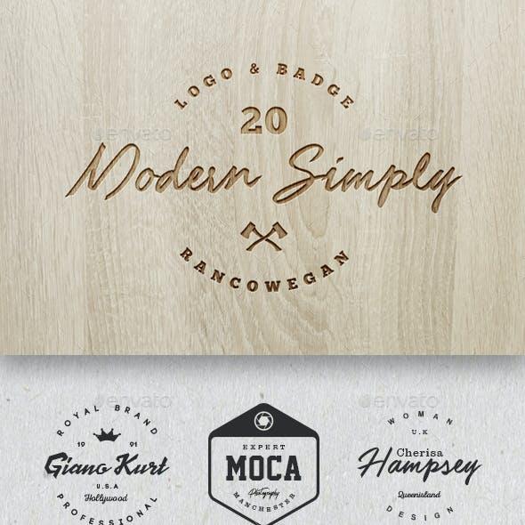 20 Modern Simply Logo & Badge