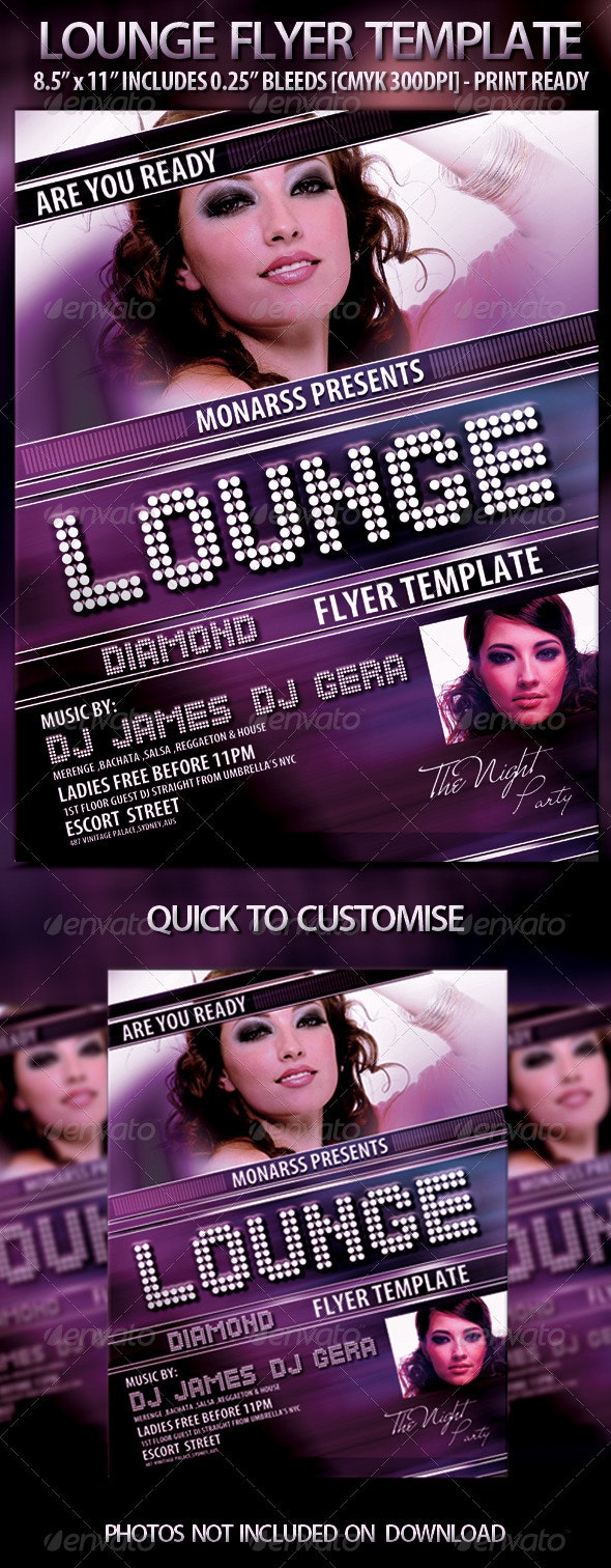 Lounge Flyer Template - Clubs & Parties Events