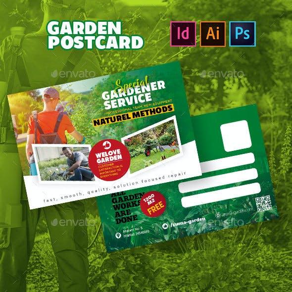 Garden Postcard Templates
