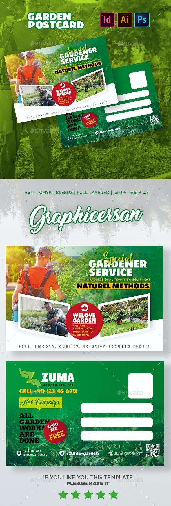 Garden Postcard Templates - Cards & Invites Print Templates