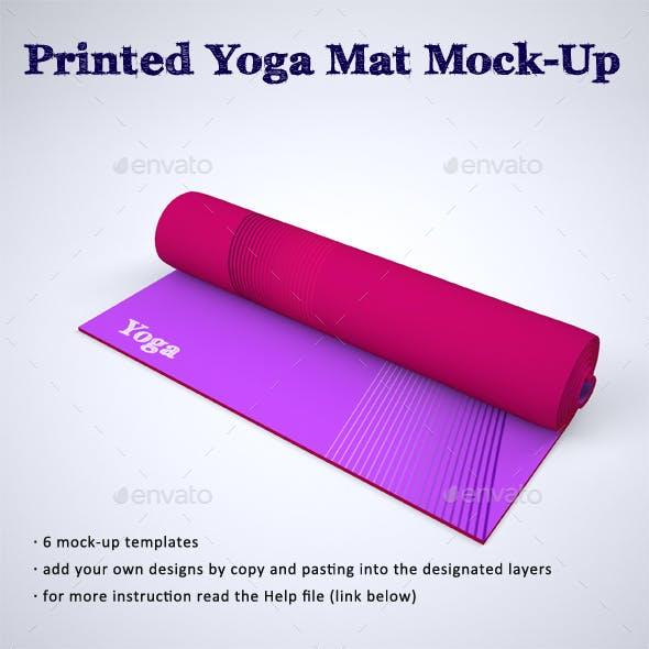 Printed Yoga Mat Exercise Rug Mock-Up