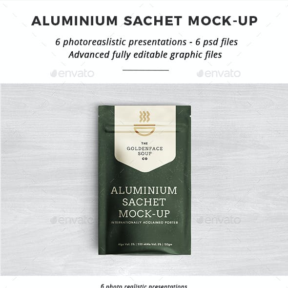 Aluminium Sachet Mock-Up
