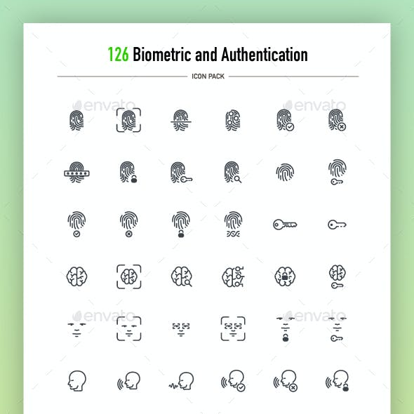 126 Biometric and Authentication Icons