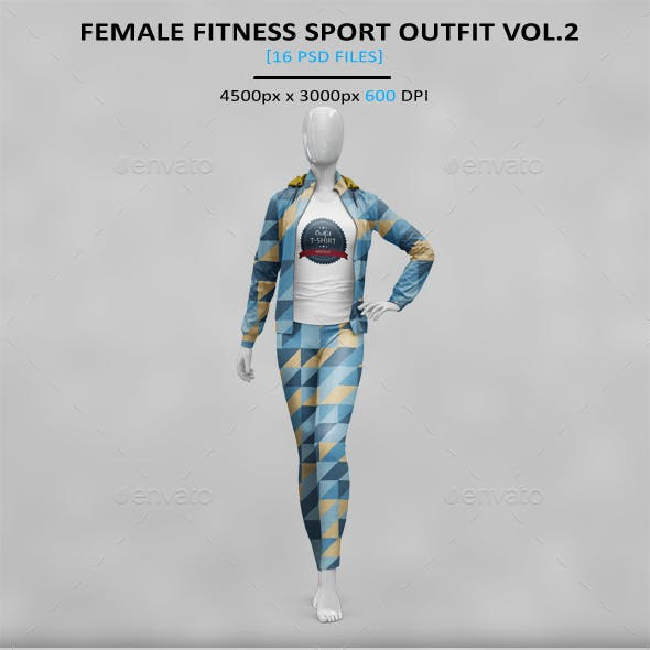 Female Fitness Sport Outfit MockUp