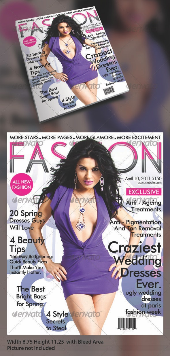 FASHION MAGAZINE TEMPLATE - Magazines Print Templates