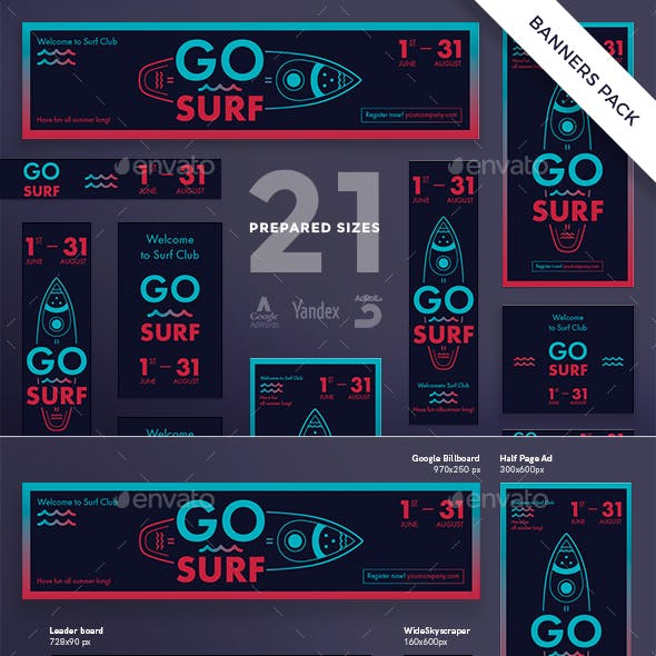 Go Surf Banner Pack
