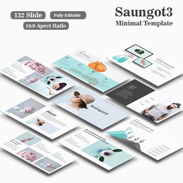 Saungot3 Minimal Google Slide Template