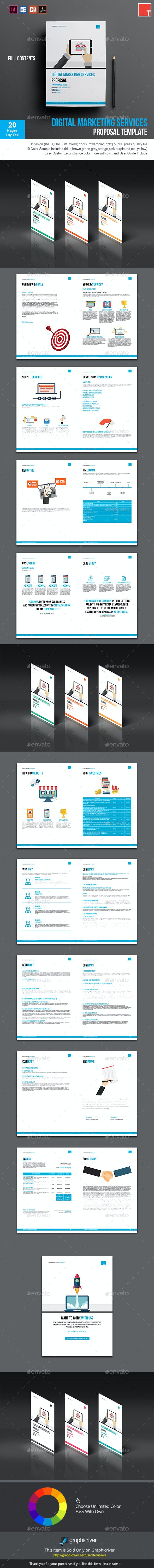 Digital Marketing Services Proposal Template By Terusawa Graphicriver