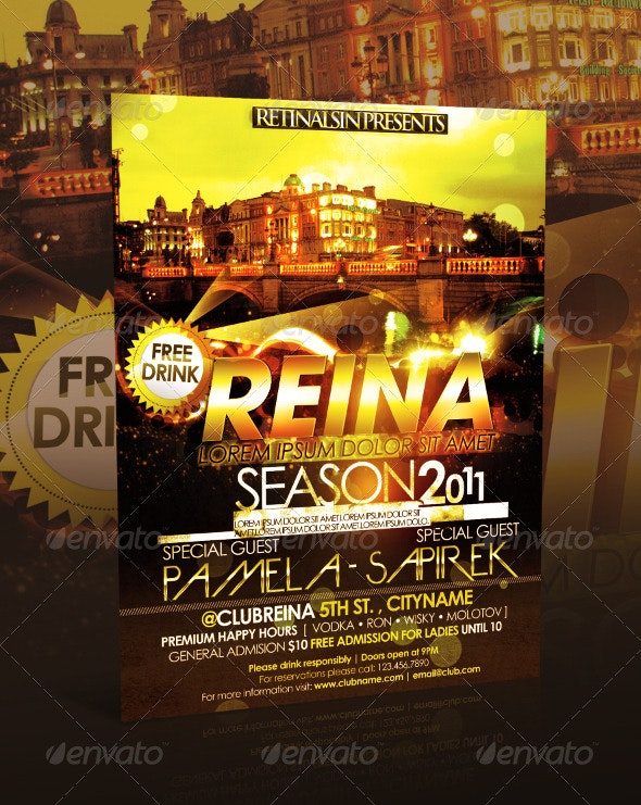 Reina Club Flyer - Clubs & Parties Events