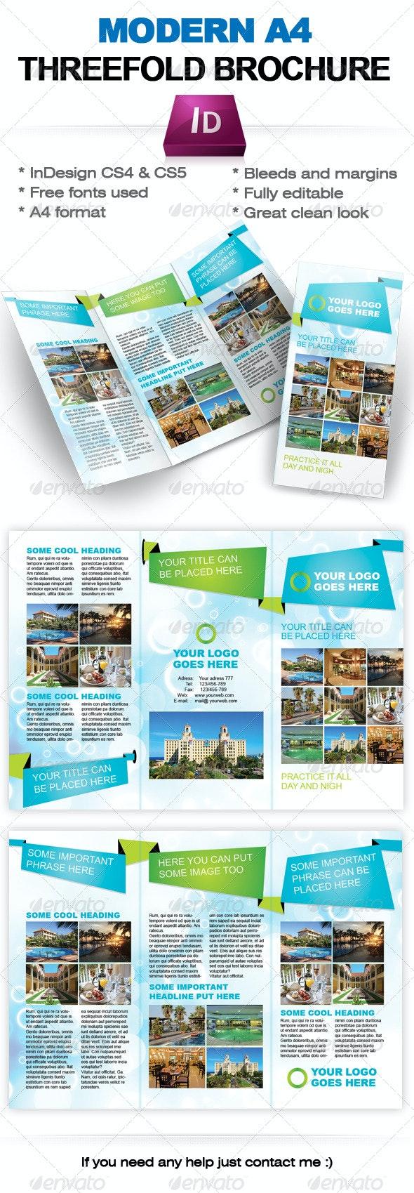 Modern Threefold Brochure InDesign template - Corporate Brochures