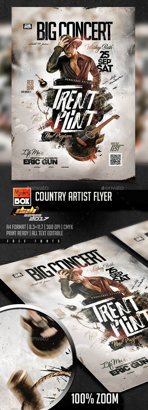 Country Artist Flyer - Flyers Print Templates