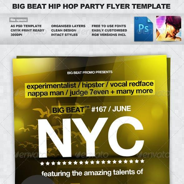 BigBeat Bold NYC Hip Hop A5 Flyer