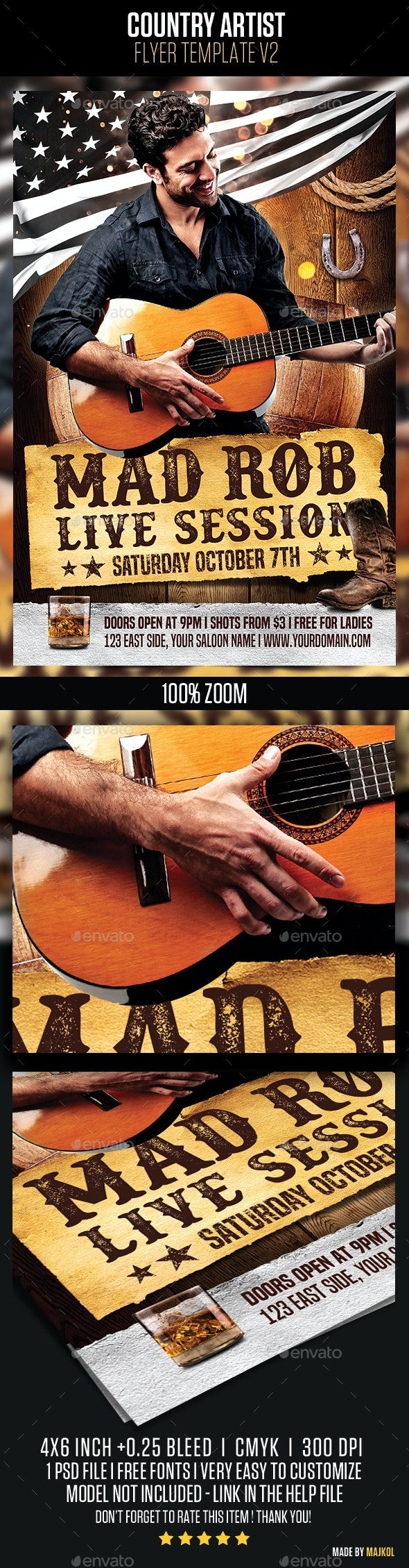 Country Artist Flyer v2 - Concerts Events