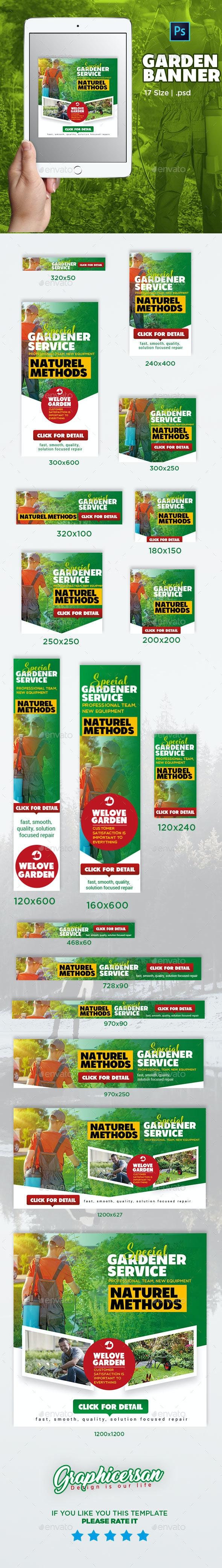 Garden Banner Template - Banners & Ads Web Elements