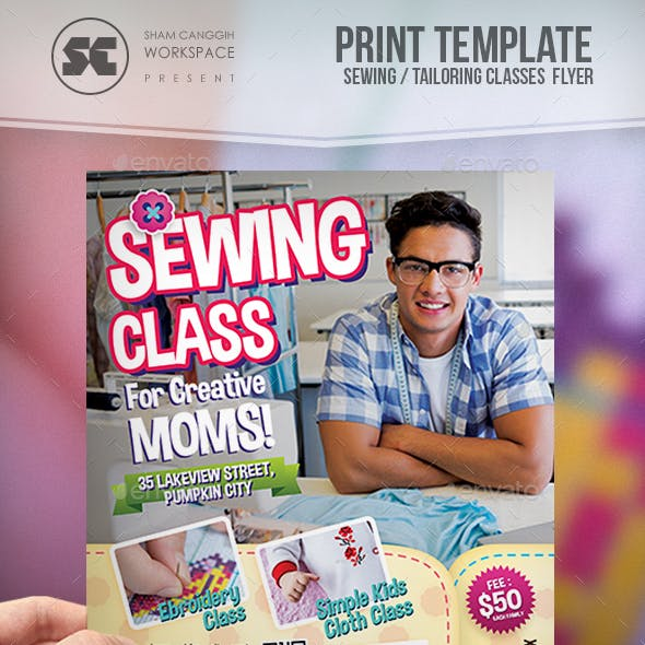 Sewing Class Flyer