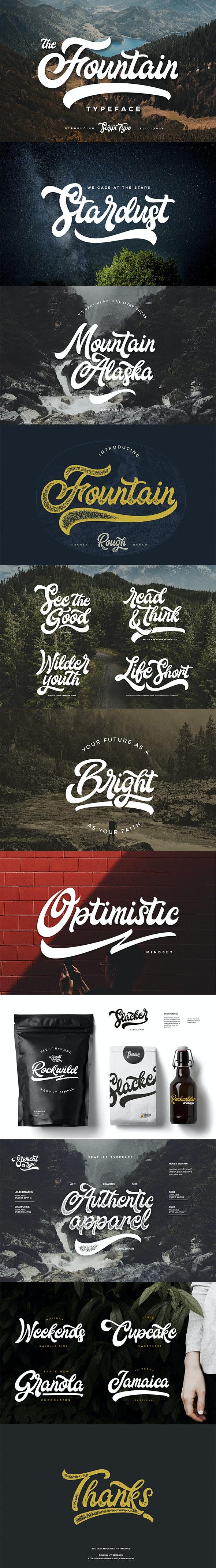 Fountain Type - Script Fonts