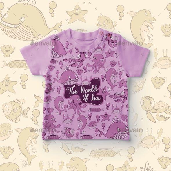 Sea World, Tshirt Design for Kids