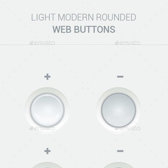 Light Modern Web Buttons Set