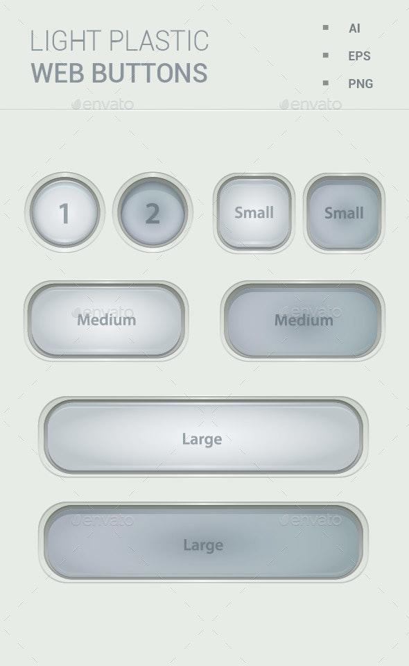 Light Plastic Transparent Buttons - Buttons Web Elements
