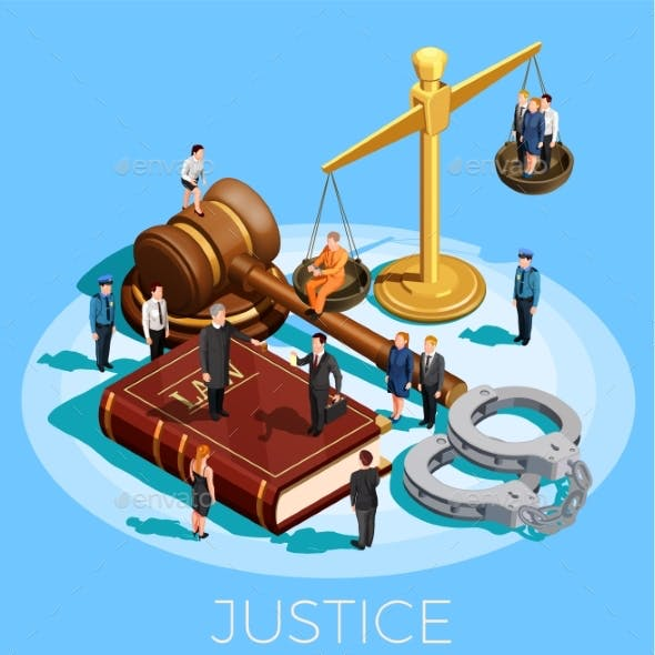 System Of Justice Concept