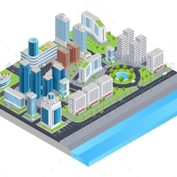 Isometric City Composition