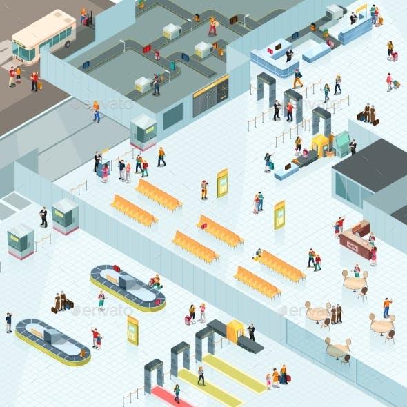 Airport Zones Isometric Design
