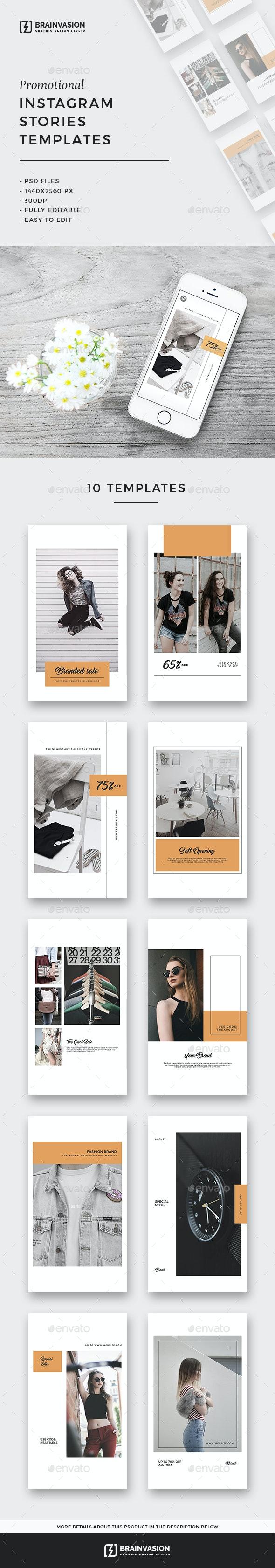 Instagram Stories Templates Vol.03 - Social Media Web Elements