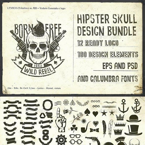 Hipster Skull Design Pack
