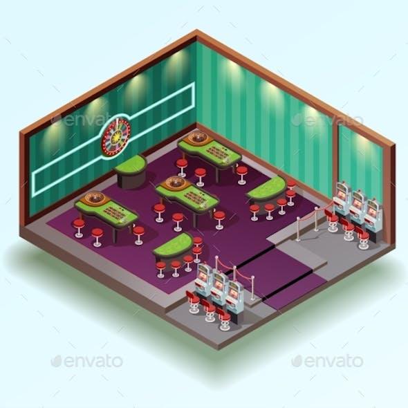 Casino Hall Isometric Interior
