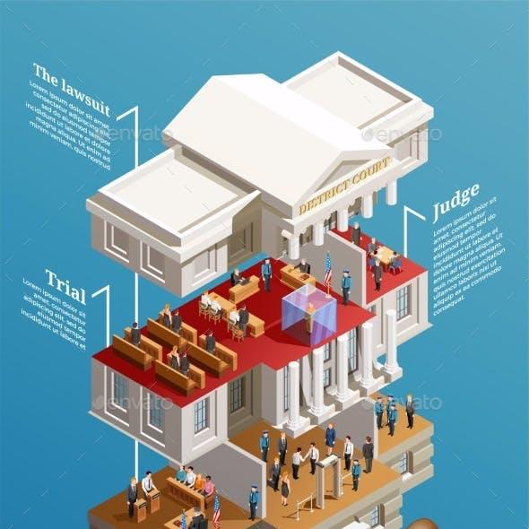 Judgement Hall Isometric Infographics