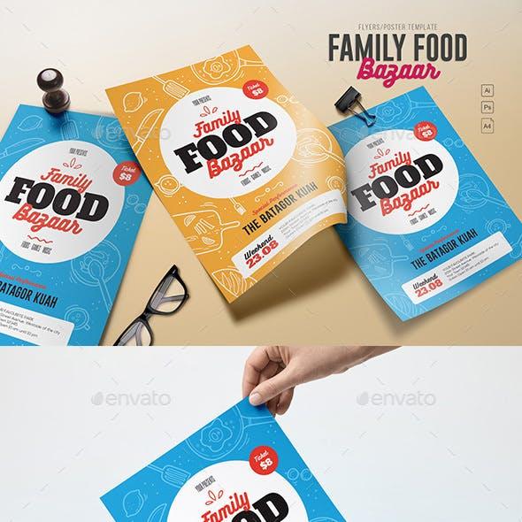 Family Food Bazaar Flyers
