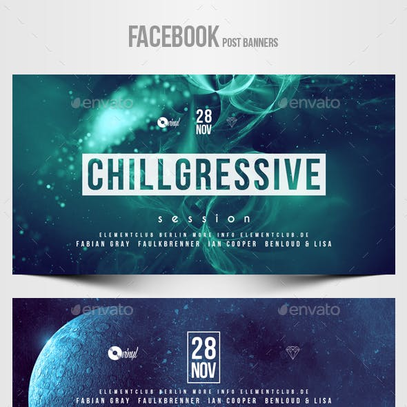 Electronic Music Party vol.29 - Facebook Post Banner Templates