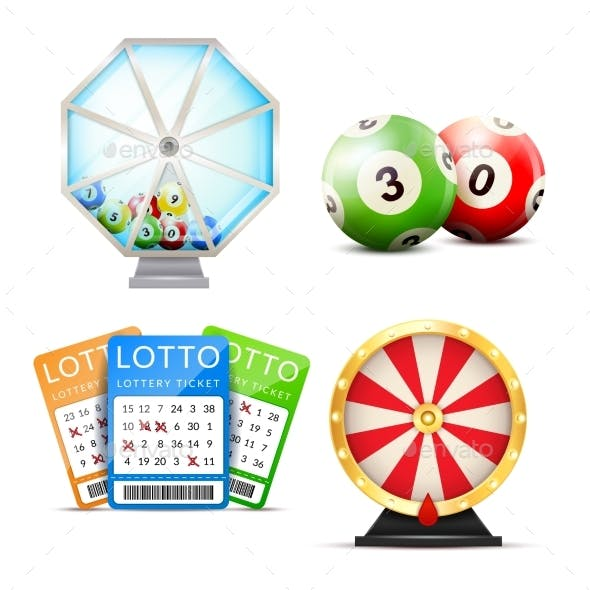 Lottery Realistic Accessories Set