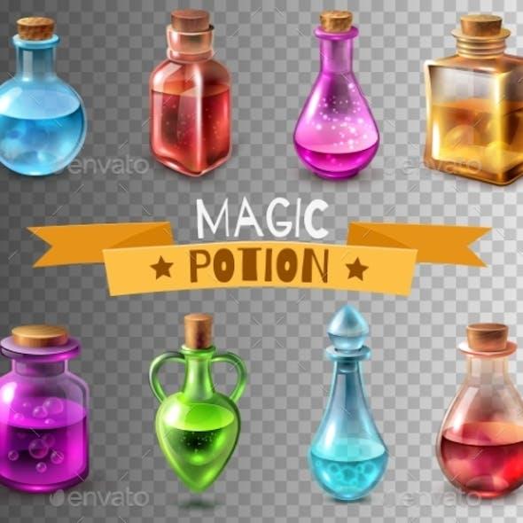Potion Flasks Transparent Collection