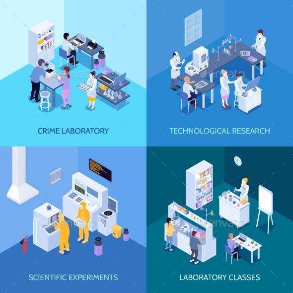 Laboratory Isometric Design Concept