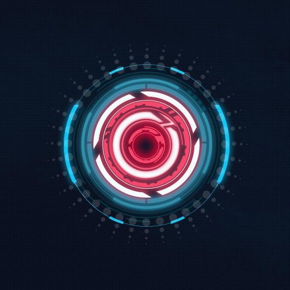 Hi-tech HUD circles - Custom Shapes