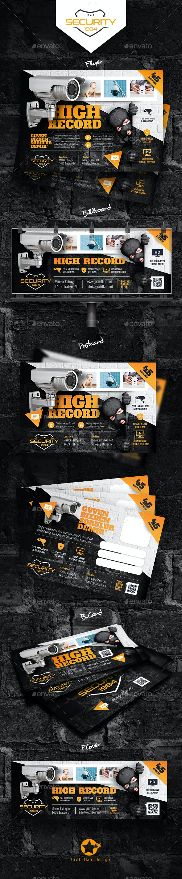 Security Systems Bundle Templates - Corporate Flyers