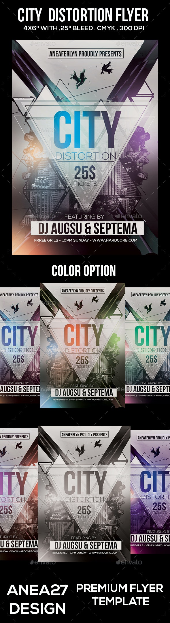 City Distortion Flyer - Clubs & Parties Events