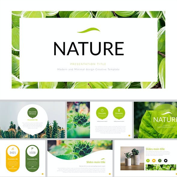 Nature - Simple Creative PowerPoint Template